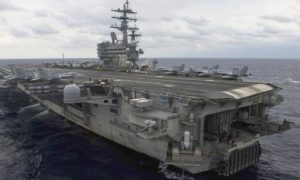 The aircraft was ferrying passengers to the USS Ronald Reagan in the Philippine Sea