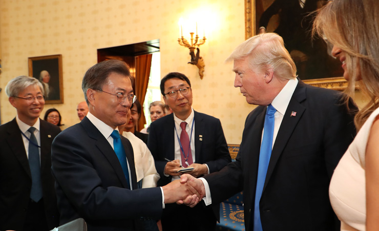 Moon Jae In with Donald Trump