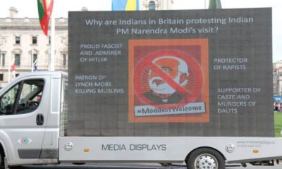 protest against modi in Britain