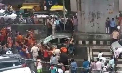 Kanwariyas vandalise vehicle