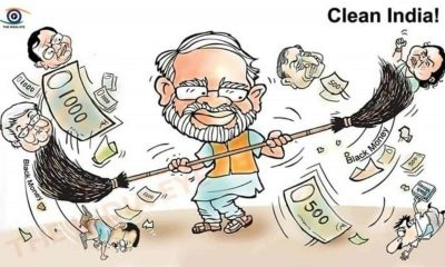 Demonetisation Cartoon Modi
