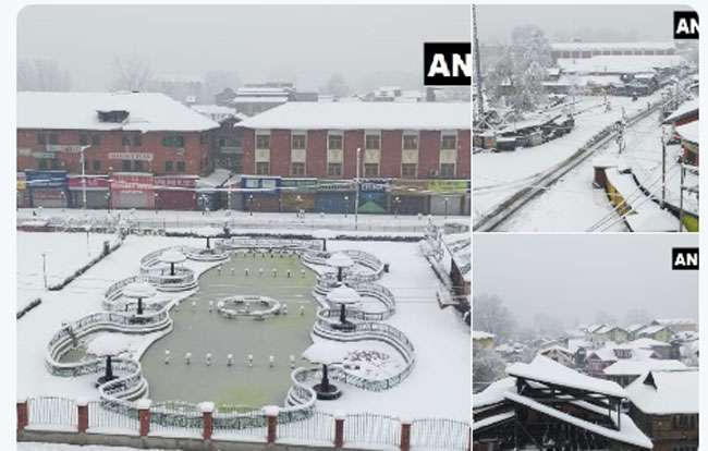 kashmir snow fall
