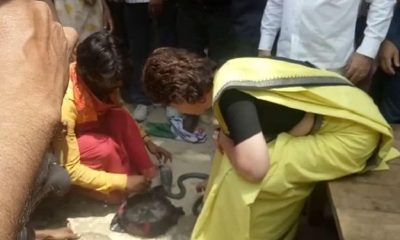 priyanka gandhi snake video