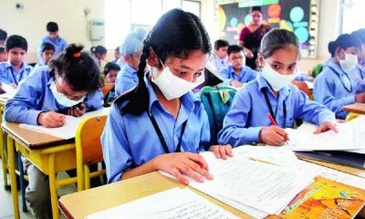 Delhi School Pollution Mask