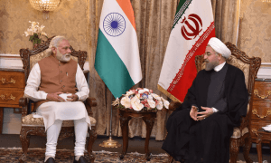 PM-Modi-in-restricted-tete-a-tete-with-the-President-of-Iran-min