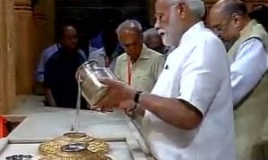 pm in somnath temple