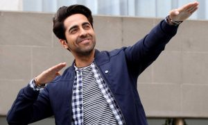 Kolkata: Bollywood actor Ayushmann Khurrana during a press conference for his upcoming movie Hawaizaada in Kolkata on Jan 27, 2015. (Photo:IANS)