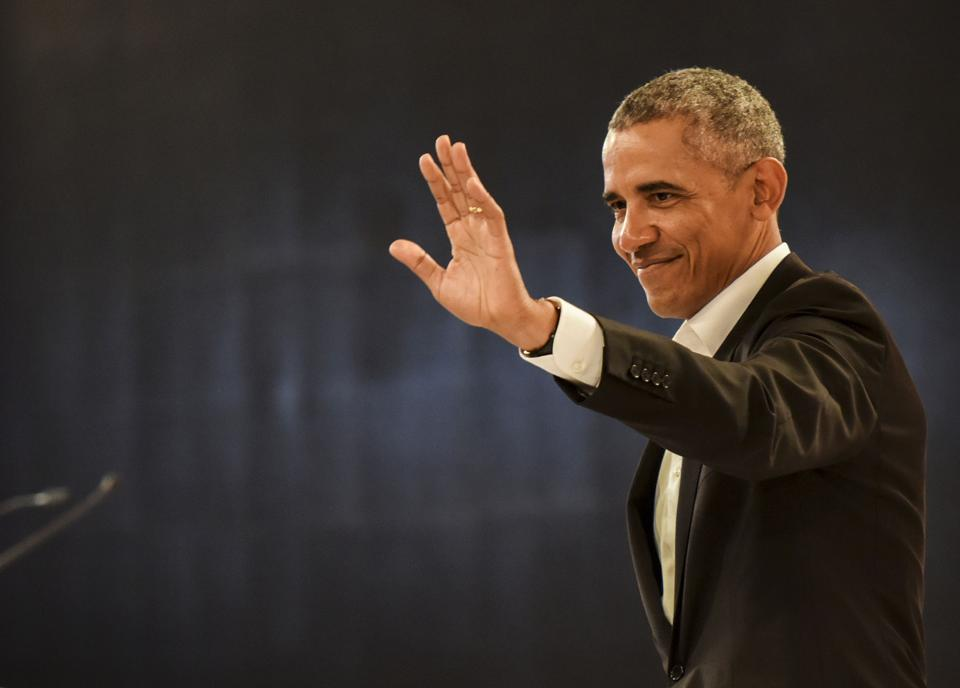 Barack Obama at Hindustan Times Leadership Summit (Photo - Hindustan times )
