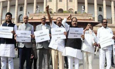 tdp protest in parliament