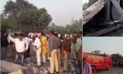 Fire in budaun Cracker Factory